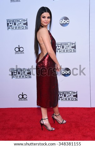 LOS ANGELES - NOV 22:  Selena Gomez arrives to the American Music Awards 2015  on November 22, 2015 in Los Angeles, CA.                 - stock photo