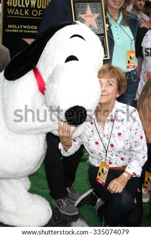 LOS ANGELES - NOV 2:  Snoopy, Jean Schultz at the Snoopy Hollywood Walk of Fame Ceremony at the Hollywood Walk of Fame on November 2, 2015 in Los Angeles, CA - stock photo