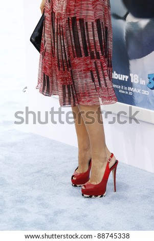 LOS ANGELES - NOV 13: Sofia Vergaras at the World Premiere of  'Happy Feet Two' at Grauman's Chinese Theater on November 13, 2011  in Los Angeles, California - stock photo