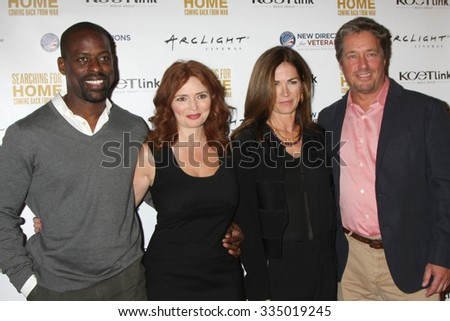 "LOS ANGELES - NOV 2:  Sterling K. Brown, Brigid Brannagh, Kim Delaney, Brian McNamara at the ""Searching for Home"" Screening Event at the ArcLight Theaters on November 2, 2015 in Sherman Oaks, CA"