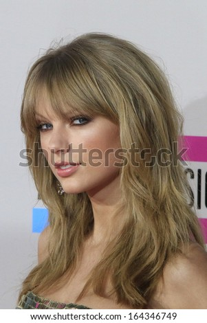 LOS ANGELES - NOV 24: Taylor Swift at the 2013 American Music Awards at Nokia Theater L.A. Live on November 24, 2013 in Los Angeles, California - stock photo
