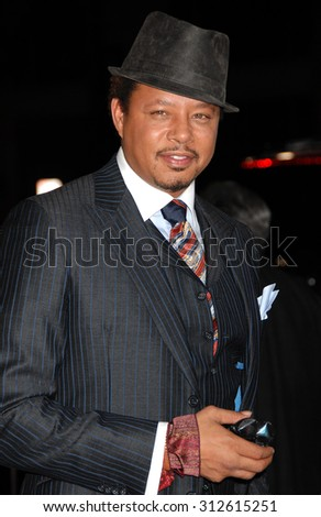 LOS ANGELES - NOV 5:  Terrence Howard arrives at The Best Man Holiday World Premiere  on November 5, 2013 in Culver City, CA                 - stock photo