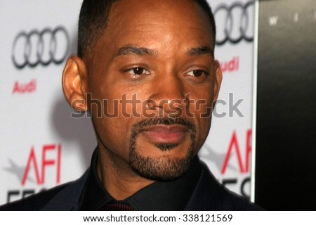 "LOS ANGELES - NOV 10:  Will Smith at the AFI Fest 2015 Presented by Audi - ""Concussion"" Premiere at the TCL Chinese Theater on November 10, 2015 in Los Angeles, CA - stock photo"