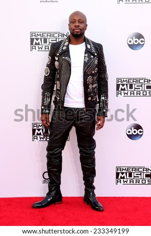 LOS ANGELES - NOV 23:  Wyclef Jean at the 2014 American Music Awards - Arrivals at the Nokia Theater on November 23, 2014 in Los Angeles, CA - stock photo