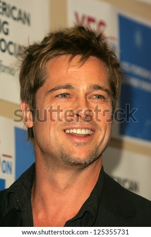 LOS ANGELES - NOVEMBER 11:  Brad Pitt at Proposition 87 Press Conference in a Private Location November 11, 2006 in Los Angeles, CA. - stock photo