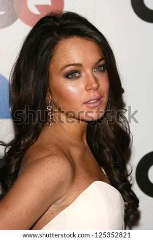 LOS ANGELES - NOVEMBER 29: Lindsay Lohan at the GQ Man of the Year Awards at Sunset Tower Hotel November 29, 2006 in Los Angeles, CA. - stock photo
