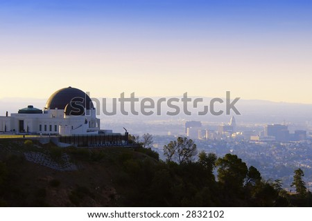 los angeles observatory - stock photo