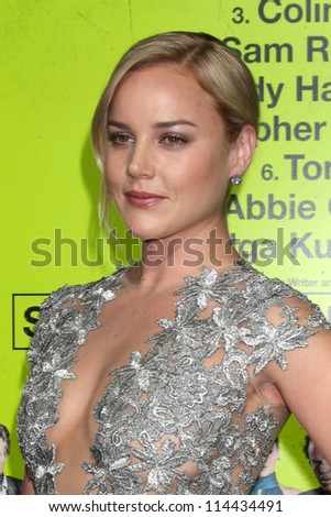"LOS ANGELES - OCT 30:  Abbie Cornish  at the ""Seven Psychopaths"" Premiere at Bruin Theater on October 30, 2012 in Westwood, CA - stock photo"