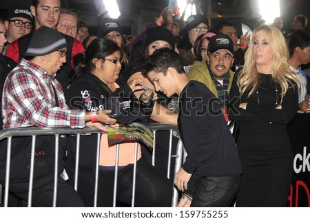 "LOS ANGELES - OCT 23: Aramis Knight at the Premiere of ""Jackass Presents: Bad Grandpa"" at the TCL Chinese Theater on October 23, 2013 in Los Angeles, California"