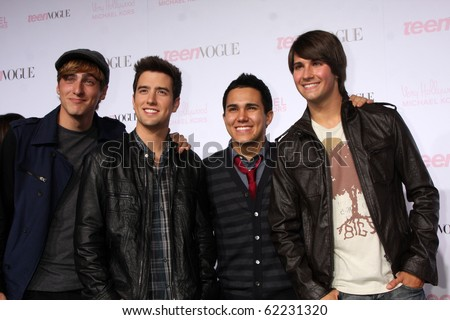 LOS ANGELES - OCT 1:  Big Time Rush arrives at the 8th Teen Vogue Young Hollywood Party - Red Carpet at Paramount Studios on October 1, 2010 in Los Angeles, CA