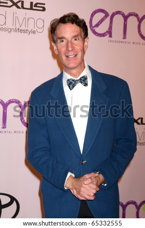 LOS ANGELES - OCT 25:  Bill Nye, the Science Guy arrives at the Environmental Media Awards 2009 at Paramount Studios on October 25, 2009 in Los Angeles, CA. - stock photo