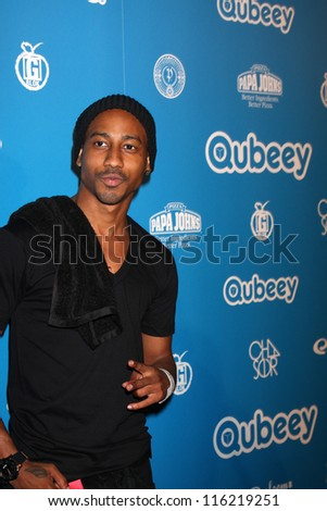 LOS ANGELES - OCT 20:  Brandon T. Jackson arrives at  the Qubeeys Chris Brown Channel Launch Event at Private Residence on October 20, 2012 in Beverly Hills, CA - stock photo