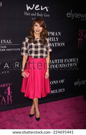 LOS ANGELES - OCT 18:  Brenda Song at the Pink Party 2014 at Hanger 8 on October 18, 2014 in Santa Monica, CA - stock photo