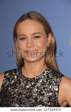 "LOS ANGELES - OCT 13:  Brie Larson at the ""Room"" Los Angeles Premiere at the Pacific Design Center on October 13, 2015 in West Hollywood, CA - stock photo"