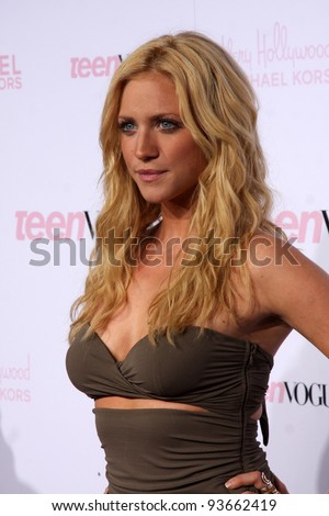 LOS ANGELES - OCT 1:  Brittany Snow arrives at the 8th Teen Vogue Young Hollywood Party - Red Carpet at Paramount Studios on October 1, 2010 in Los Angeles, CA - stock photo