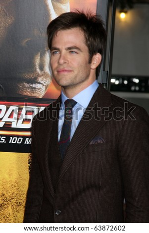 "LOS ANGELES - OCT 26:  Chris Pine arrives at the ""Unstoppable"" Premiere at Regency VIllage Theater on October 26, 2010 in Westwood, CA"