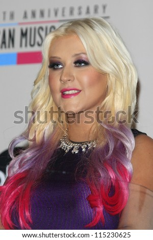 LOS ANGELES - OCT 9: Christina Aguilera at the 40th Anniversary American Music Awards nominations press conference, JW Marriott Los Angeles at L.A. LIVE on October 9, 2012 in Los Angeles, California