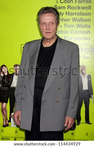 "LOS ANGELES - OCT 30:  Christopher Walken  at the ""Seven Psychopaths"" Premiere at Bruin Theater on October 30, 2012 in Westwood, CA - stock photo"