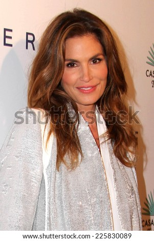 "LOS ANGELES - OCT 23:  Cindy Crawford at the De Re Gallery & Casamigos Host The Opening Brian Bowen Smith's ""Wildlife"" Show at De Re Gallery on October 23, 2014 in West Hollywood, CA - stock photo"