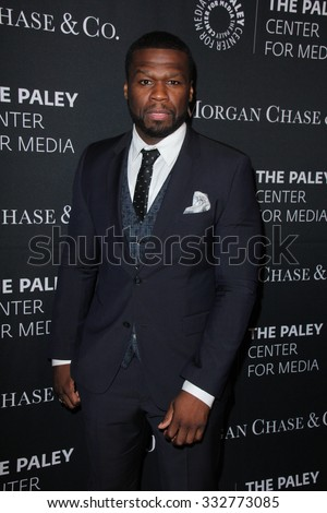 LOS ANGELES - OCT 26:  Curtis Jackson, 50 Cent at the Paley Center's Hollywood Tribute to African-Americans in TV at the Beverly Wilshire Hotel on October 26, 2015 in Beverly Hills, CA - stock photo