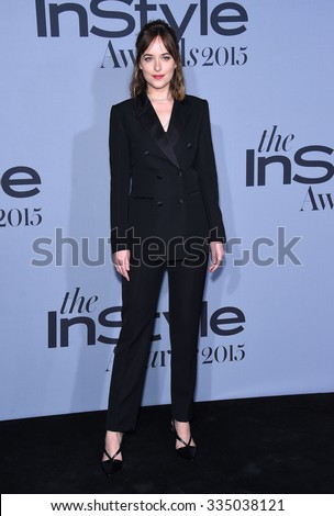 LOS ANGELES - OCT 26:  Dakota Johnson arrives to the InStyle Awards 2015  on October 26, 2015 in Hollywood, CA.                 - stock photo