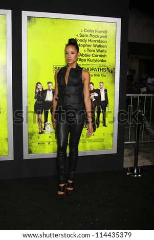 """LOS ANGELES - OCT 30:  Dania Ramirez  at the """"Seven Psychopaths"""" Premiere at Bruin Theater on October 30, 2012 in Westwood, CA - stock photo"""