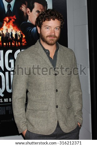 LOS ANGELES - OCT 4:  Danny Masterson arrives at the Gangster Squad World Premiere  on January 7, 2013 in Hollywood, CA              - stock photo