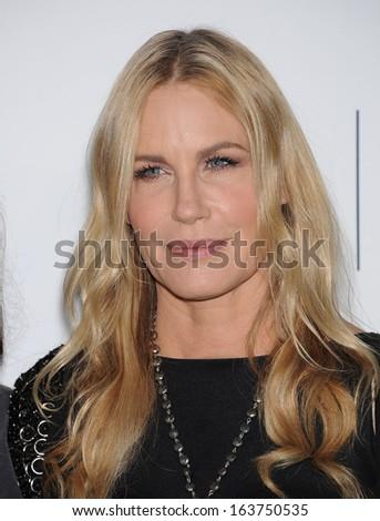 "LOS ANGELES - OCT 19:  Daryl Hannah arrives to ""Environmental Media Awards 2013  on October 19, 2013 in Burbank, CA                 - stock photo"