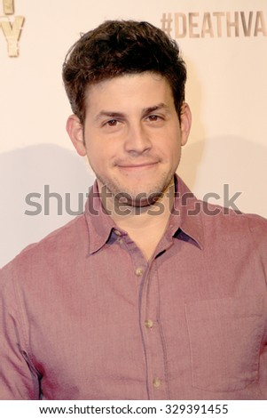 """LOS ANGELES- OCT 17: David Blue arrives at the """"Death Valley"""" film premiere Oct. 17, 2015 at Raleigh Studios in Los Angeles, CA. - stock photo"""