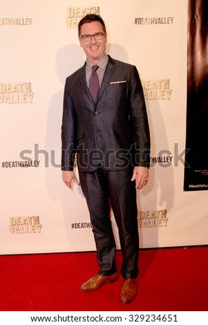 """LOS ANGELES- OCT 17: David Kaye arrives at the """"Death Valley"""" film premiere Oct. 17, 2015 at Raleigh Studios in Los Angeles, CA. - stock photo"""