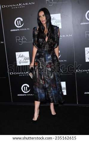 LOS ANGELES - OCT 08:  Demi Moore arrives to the 5th Annual PSLA Autumn Party  on October 8, 2014 in Culver City, CA                 - stock photo