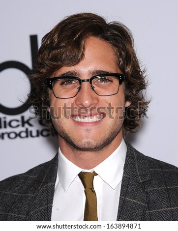LOS ANGELES - OCT 21:  Diego Boneta arrives to Hollywood Film Awards Gala 2013  on October 21, 2013 in Beverly Hills, CA                 - stock photo