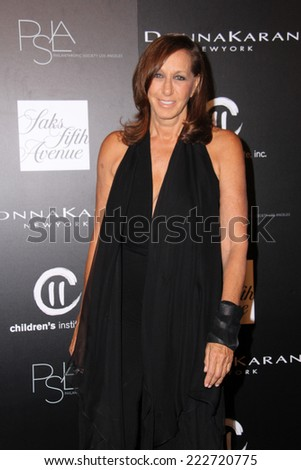 LOS ANGELES - OCT 8:  Donna Karan at the 5th Annual PSLA Autumn Party at 3LABS on October 8, 2014 in Culver City, CA - stock photo