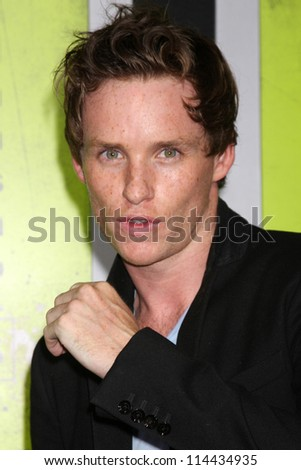 "LOS ANGELES - OCT 30:  Eddie Redmayne  at the ""Seven Psychopaths"" Premiere at Bruin Theater on October 30, 2012 in Westwood, CA - stock photo"