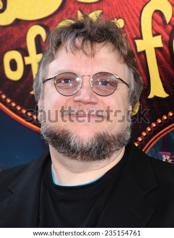 "LOS ANGELES - OCT 12:  Guillermo de Toro arrives to the ""The Book of Life"" Los Angeles Premiere on October 12, 2014 in Los Angeles, CA                 - stock photo"