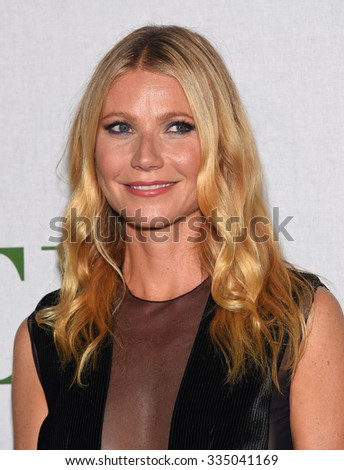 "LOS ANGELES - OCT 13:  Gwyneth Paltrow arrives to the La Mer ""Celebration of an Icon"" Global Event on October 13, 2015 in Hollywood, CA."