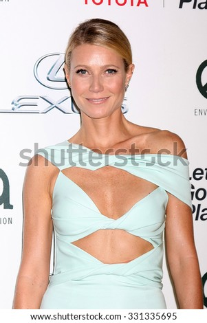 LOS ANGELES - OCT 24:  Gwyneth Paltrow at the Environmental Media Awards 2015 at the Warner Brothers Studio Lot on October 24, 2015 in Burbank, CA - stock photo
