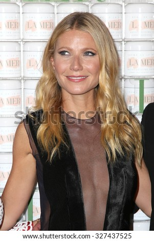 LOS ANGELES - OCT 13:  Gwyneth Paltrow at the La Mer Celebration Of An Icon Global Event at the Siren Studios on October 13, 2015 in Los Angeles, CA - stock photo