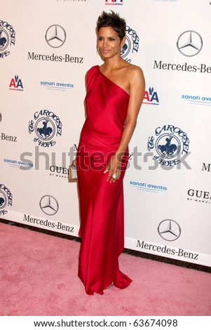 LOS ANGELES - OCT 23:  Halle Berry arrives at the 2010 Carousel of Hope Ball at Beverly Hilton Hotel on October 23, 2010 in Beverly Hills, CA - stock photo