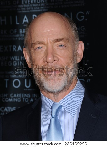 "LOS ANGELES - OCT 06:  J.K. Simmons arrives to the ""Whiplash"" Los Angeles Premiere on October 6, 2014 in Los Angeles, CA                 - stock photo"