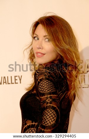 """LOS ANGELES- OCT 17: Jaime Slater arrives at the """"Death Valley"""" film premiere Oct. 17, 2015 at Raleigh Studios in Los Angeles, CA. - stock photo"""