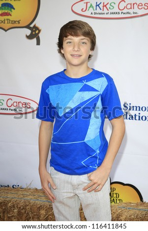 LOS ANGELES - OCT 21: Jake Short at the Camp Ronald McDonald for Good Times 20th Annual Halloween Carnival at the Universal Studios Backlot on October 21, 2012 in Los Angeles, California - stock photo