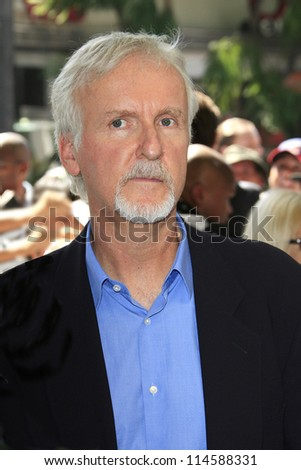 LOS ANGELES - OCT 3: James Cameron at a ceremony as Gale Anne Hurd is honored with a star on the Hollywood Walk of Fame on October 3, 2012 in Los Angeles, California - stock photo