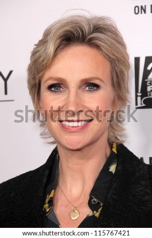 "LOS ANGELES - OCT 13:  Jane Lynch arrives at the ""American Horror Story: Asylum"" Premiere Screening at Paramount Theater on October 13, 2012 in Los Angeles, CA - stock photo"