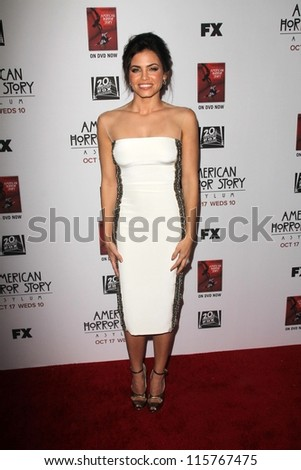 """LOS ANGELES - OCT 13:  Jenna Dewan-Tatum arrives at the """"American Horror Story: Asylum"""" Premiere Screening at Paramount Theater on October 13, 2012 in Los Angeles, CA - stock photo"""