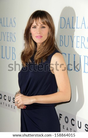 "LOS ANGELES - OCT 17:  Jennifer Garner at the ""Dallas Buyers Club"" - Los Angeles Premiere at Academy of Motion Picture Arts and Sciences on October 17, 2013 in Beverly Hills, CA - stock photo"