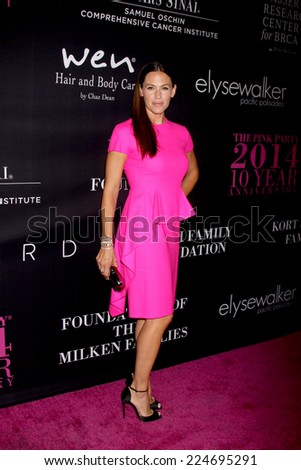 LOS ANGELES - OCT 18:  Jennifer Garner at the Pink Party 2014 at Hanger 8 on October 18, 2014 in Santa Monica, CA - stock photo