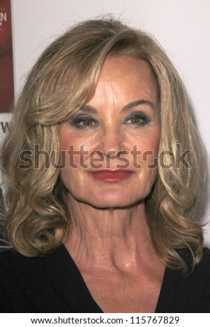 "LOS ANGELES - OCT 13:  Jessica Lange arrives at the ""American Horror Story: Asylum"" Premiere Screening at Paramount Theater on October 13, 2012 in Los Angeles, CA - stock photo"