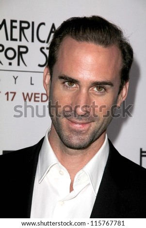 "LOS ANGELES - OCT 13:  Joseph Fiennes arrives at the ""American Horror Story: Asylum"" Premiere Screening at Paramount Theater on October 13, 2012 in Los Angeles, CA - stock photo"