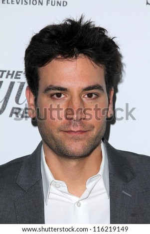 """LOS ANGELES - OCT 20:  Josh Radnor arrives at  the """"Reel Stories, Real Lives"""" Event at Milk Studios on October 20, 2012 in Los Angeles, CA - stock photo"""